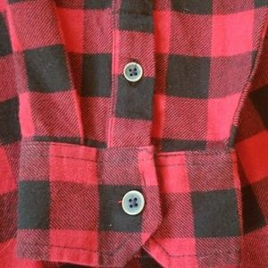 Jachs Shirts - RED AND BLACK JACHS FLANNEL